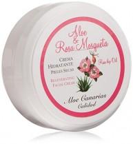 Aloe Canarias 200030 – Crema de aloe vera y rosa mosqueta regeneradora para pieles secas