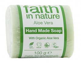Faith In Nature 6253 – Jabón vegetal puro Aloe Vera. Barra 100g