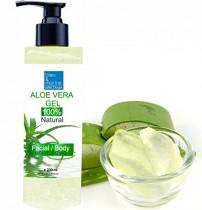Gel de Aloe Vera 100% natural, excelente hidratante para el rostro, cuerpo y cabello